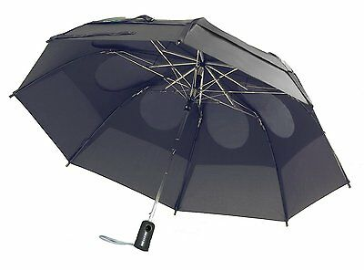 GustBuster Metro 43-Inch Automatic Umbrella, Suit Grey