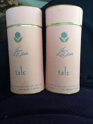 Two Vintage Talc Powder New Old Stock Jean LaSalle