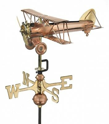 Good Directions Biplane Weathervane with Garden Pole. Free Shipping