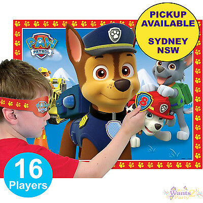 Paw Patrol Party Supplies Pin The Badge On Chase Banner Birthday Game 16 Players