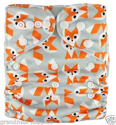 MODERN CLOTH NAPPIES REUSABLE ADJUSTABLE DIAPERS Foxy