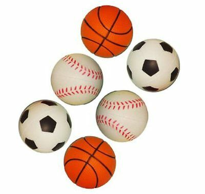 Set Of 6 Mini Balls Sponge Basketball Baseball Soccor Sport Soft Toys Birthday