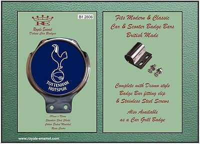 Royale Car Scooter Bar Badge + Fittings - SPURS FOOTY 1960'S - B1.2806