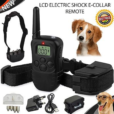 A+ High Range LCD Electric Shock E-COLLAR Remote Control Anti bark Dog Training
