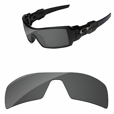 Black Polarized Replacement Lenses For-oakley Oil Rig Sunglasses