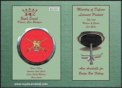 Royale Classic Car Grill Badge + Fittings - THE BRITISH ARMY - B2.3001