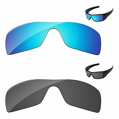 Black & Ice Blue Polarized Replacement Lenses For-oakley Batwolf Sunglasses