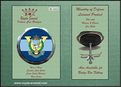 Royale Classic Car Grill Badge + Fittings - 5 REGIMENT ARMY AIR CORPS - B2.3003