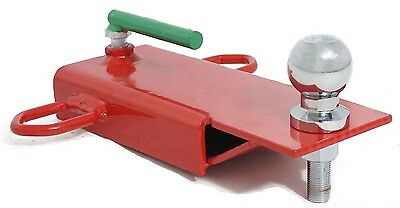 Clamp on 5.1cm Ball Forklift Hitch Receiver Pallet Forks Trailer Towing Adapter.
