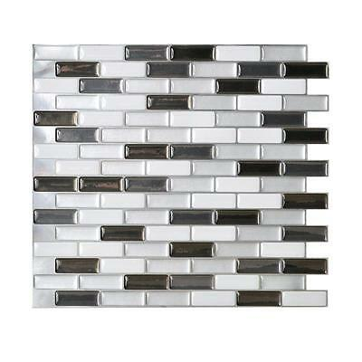 Smart Tiles SM1030-1 SELF-ADHESIVE WALL TILES 1/SHEET MURANO METALLIK 0.64 sq/ft