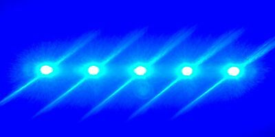 Tmc Aquaray Aquabeam Led Strip Reef Blue 5 Led Fish Tank Light Sn:0009060