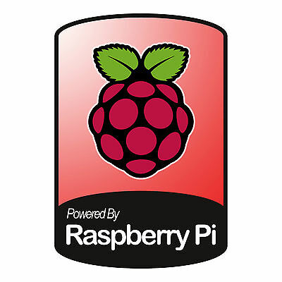 Powered By Raspberry Pi - Cool Bumper Sticker - Car, Wall or Case Decal Sticker