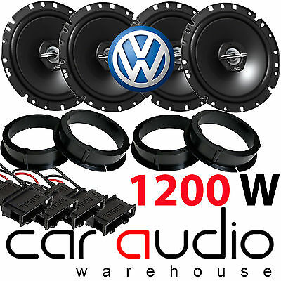 VW Vokswagen Passat B5 JVC 1200 Watts Front & Rear Door Car Speakers Upgrade Kit