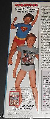 1985 vintage ad - BOYS UNDEROOS UNDERWEAR BRIEFS - THIRD-PAGE PRINT ADVERT cute