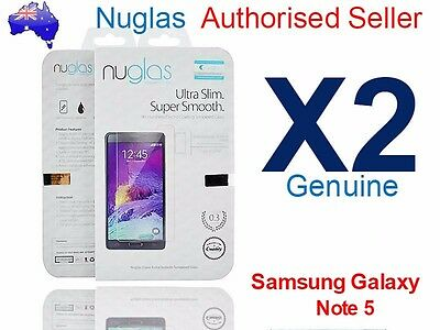 2 X GENUINE NUGLAS for Samsung Galaxy Note 5 Tempered Glass Screen Protector