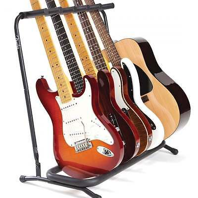 Fender Genuine 5-Way Multi Guitar Stand Rack for Electric, Acoustic or Bass