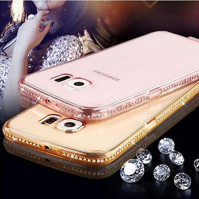 COVER CUSTODIA IN TPU con STRASS GIOIELLI per Samsung Galaxy S5 S6/S7/Edge/Plus