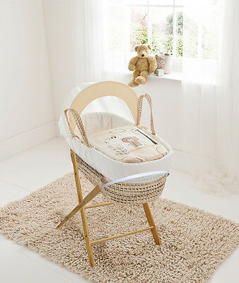 Beary Nice Cream Palm Moses  Basket & Folding Stand