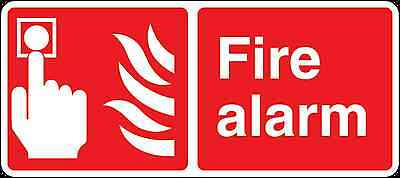 Health and Safety Fire Sticker Fire Alarm Button Sticker red