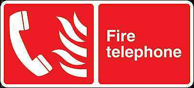 Health and Safety Fire Sticker Fire Telephone Sticker Red