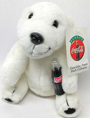 Play.By.Play 1995 Coca-Cola Brand Polar Bear Plush Collectible New with Tags