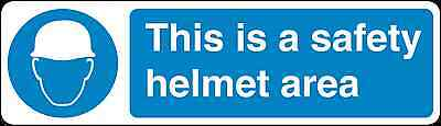 Health and Safety Mandatory Blue Sticker This is a Safety Helmet Area Sticker