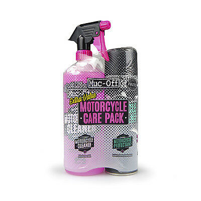 Muc-Off Kit duo de cuidado moto (Motorcycle Protectant + Cleaner) Limpieza Moto