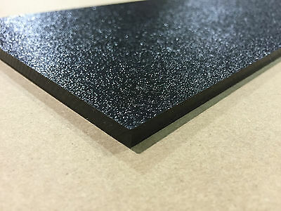 """ABS Black Plastic Sheet 1/8"""" x 12"""" X 30"""" (.125"""") Haircell 1 side stereo"""