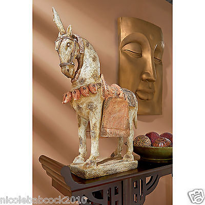 CHINESE Emperor Xuanzong 6  DYNASTY TANG SCULPTURE Caparisoned Horse Statue