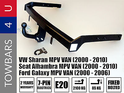 Brand New Heavy Duty Towbar Volkswagen Vw Sharan Seat Alhambra Ford Galaxy Mpv 7