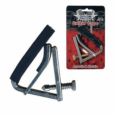 New Crossfire Multifunction Capo for Acoustic & Electric Guitars