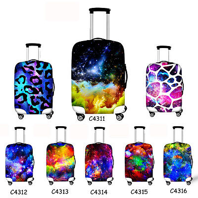 """Space Spandex Dust-proof Elastic Travel Luggage COVER Suitcase Protector 20""""-30"""""""