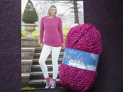 Maxi-lite Super chunky Cable Front Sweater Knitting Kit