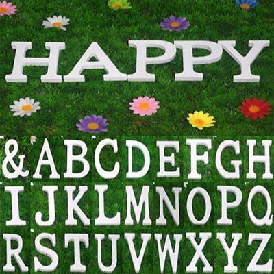 8X1.2cm (thick) Wooden White Letters Alphabet Wedding  Birthday Home Decoration