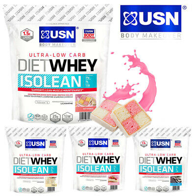 USN Diet Whey Isolean Low Carb Whey Protein Isolate 25g/454g/1kg