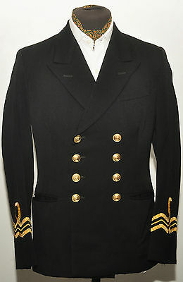"Vintage Double Breasted Naval Royal Navy Class 1 Blazer Jacket 38"" R 1960S"
