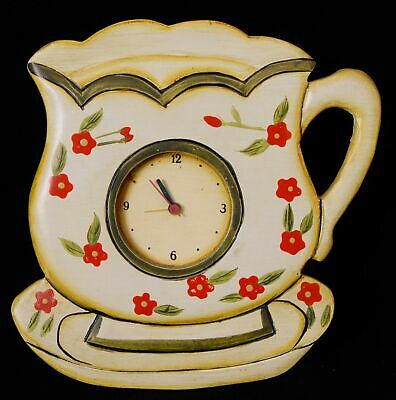 Tea Cup Shaped Key Cupboard with Working Alarm Clock