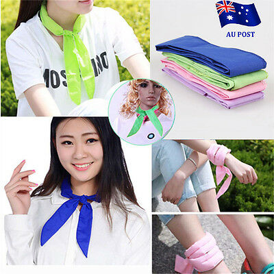 10x Handy Neck Cooler Non-toxic Personal Scarf Body Ice Cool Cooling Wrap BO