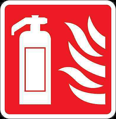Health and Safety Fire Sticker Sign Fire Extinguisher Flames sticker red