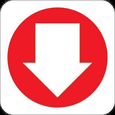 Health and Safety Fire Sticker Sign Fire Arrow Down 2 Direction sticker