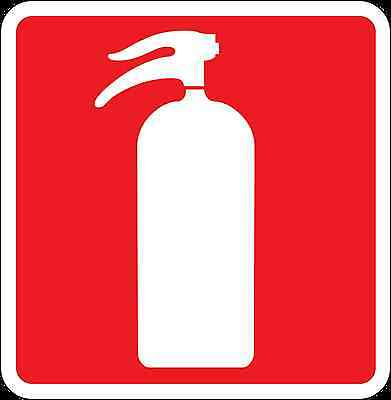 Health and Safety Fire Sticker Sign Fire Extinguisher 2 sticker red