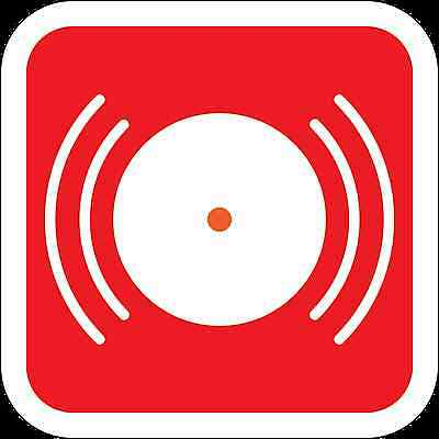 Health and Safety Fire Sticker Sign Fire Alarm Bell Sticker Red