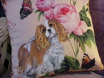 Cavalier King Charles Handpainted Pillow