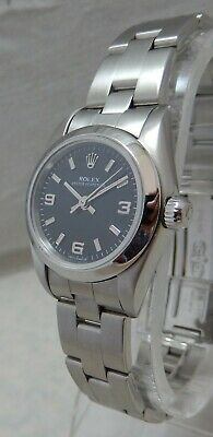 Rolex Oyster Perpetual Datejust Stainless Steel Ladies Watch On Rolex Band 1969