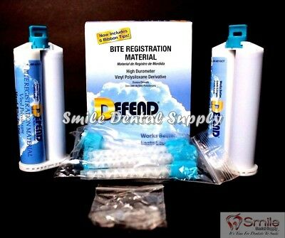 Defend Bite Registration Material Fast Set 2 X 50Ml Cartridges Dental