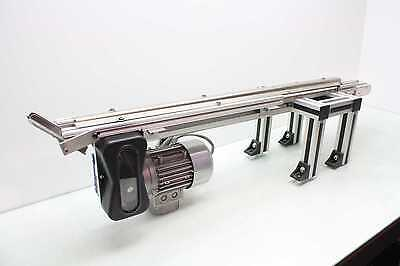 "Robotunits C4T 40"" x 1"" Modular Timing Belt Conveyor Motovario TS63B4 Gear Motor"