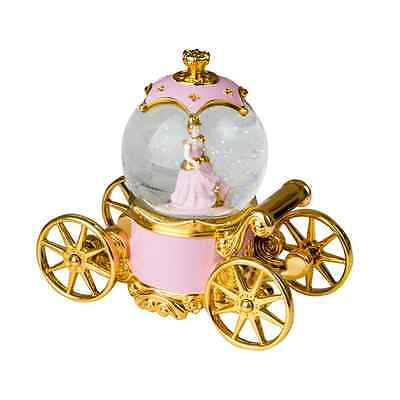 New Polyresin Princess Coach Pink Gold Lights Baby Gift
