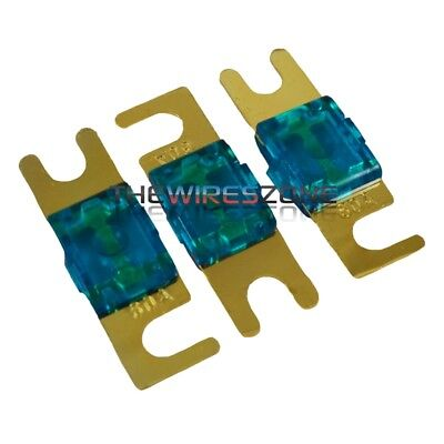 High Quality Gold Plated Inline 60 Amp Mini ANL Power Wire Fuse (3/pack) 60A