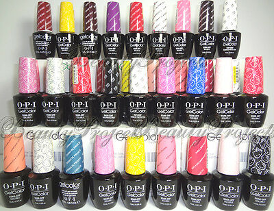 OPI GelColor Soak Off Gel Nail Polish LED/UV Pick Your Color .5oz 100% Authentic