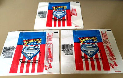 Superman III - 20x Wax Pack Card Wrappers - 1983 TOPPS - NO TEARS !!!